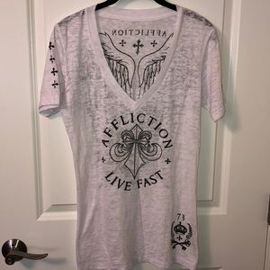 Affliction v-neck.